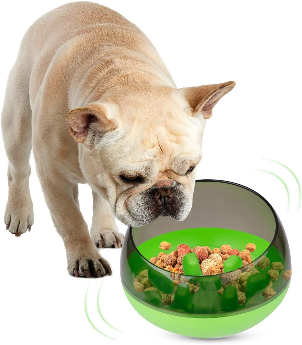 FPVERA Slow Feeder Dog Bowls Wobbler Cat Bowl Fun Feed Slower Eating Puzzle Maze Moving Food Bowls for Dogs to Slow Down Eating