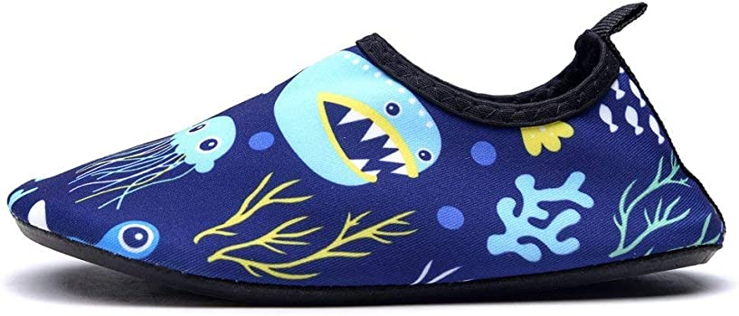 CHARMCZ Kids Water Shoes Diving Quick Dry Boys Girls Barefoot Aqua Socks for Beach Swimming Sports