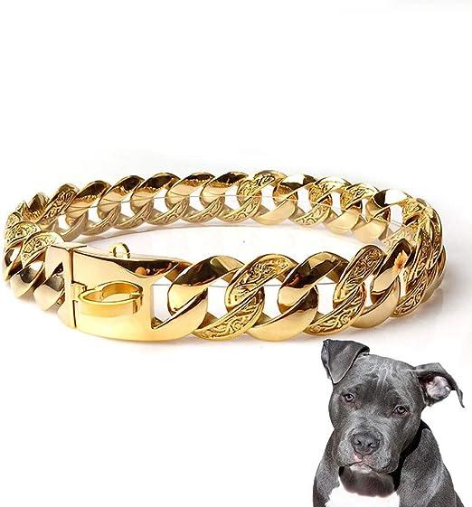 UTOPIAY Collar Resistente Perros, Collar de Cadena para Perros de ...