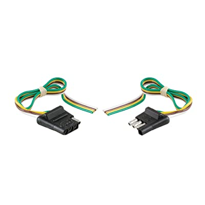 CURT 58304 4-Way Trailer Wiring Harness, 12-Inch Vehicle-Side Wires, 12-Inch Trailer-Side Wires, 4-Pin Trailer Wiring: Automotive
