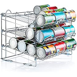 Sagler Chrome Stackable Can Organizer, Can Rack Holds up to 36 Cans,