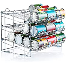 Chrome Stackable Can Organizer, Can Rack Holds up to 36 Cans,