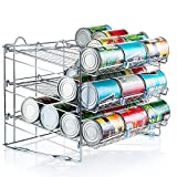 can shelf organizer - Chrome Stackable Can Organizer, Can Rack Holds up to 36 Cans,
