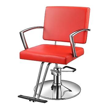 Baasha Hair Salon Chair Red With Hydraulic Pump Red Salon Chair With Headrest Hydraulic  sc 1 st  Amazon.com & Amazon.com: Baasha Hair Salon Chair Red With Hydraulic Pump Red ...
