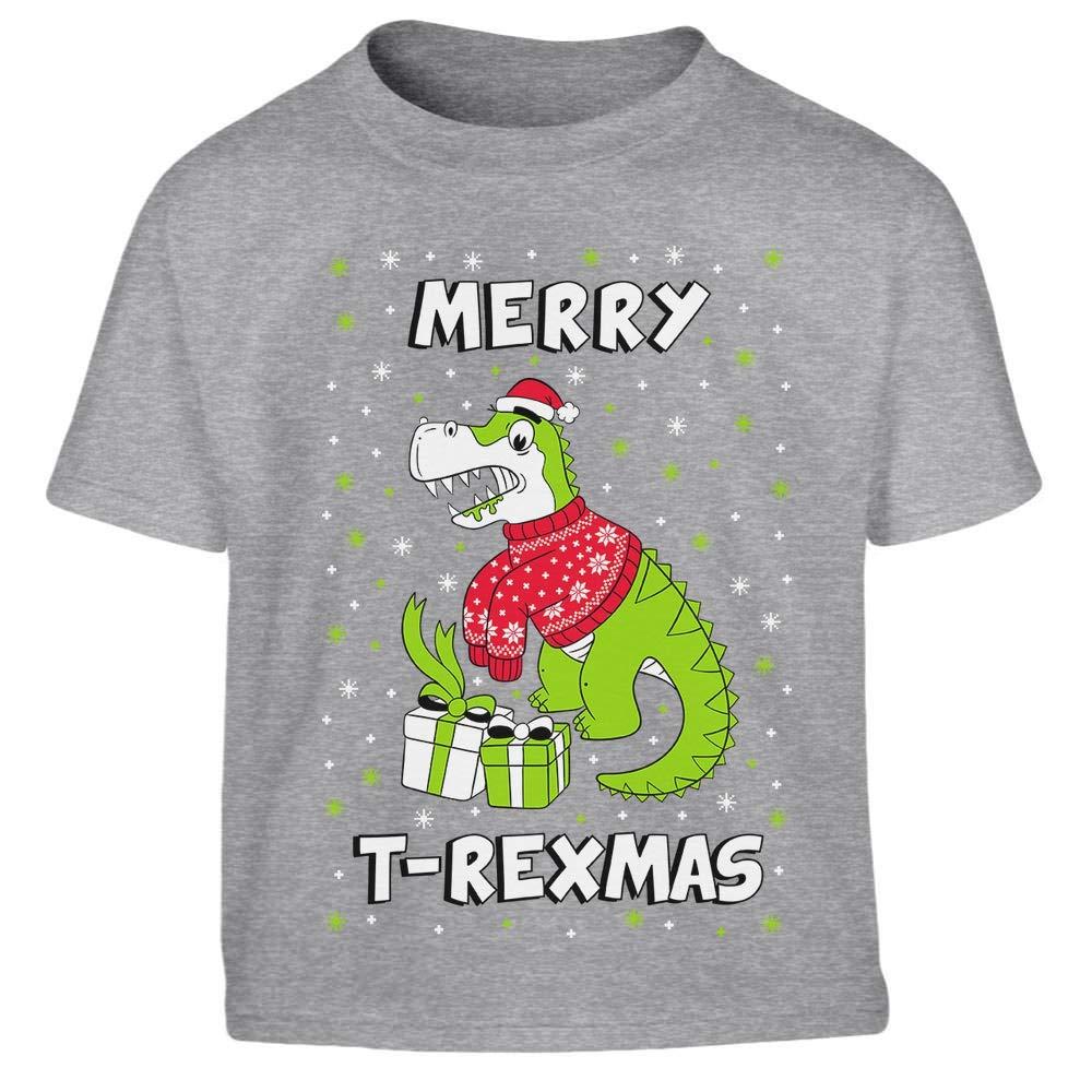 Shirtgeil Ugly Christmas T-Rex Natalizio - Merry T-Rexmas Maglietta per Bambini VHlClfl6tE1hhE