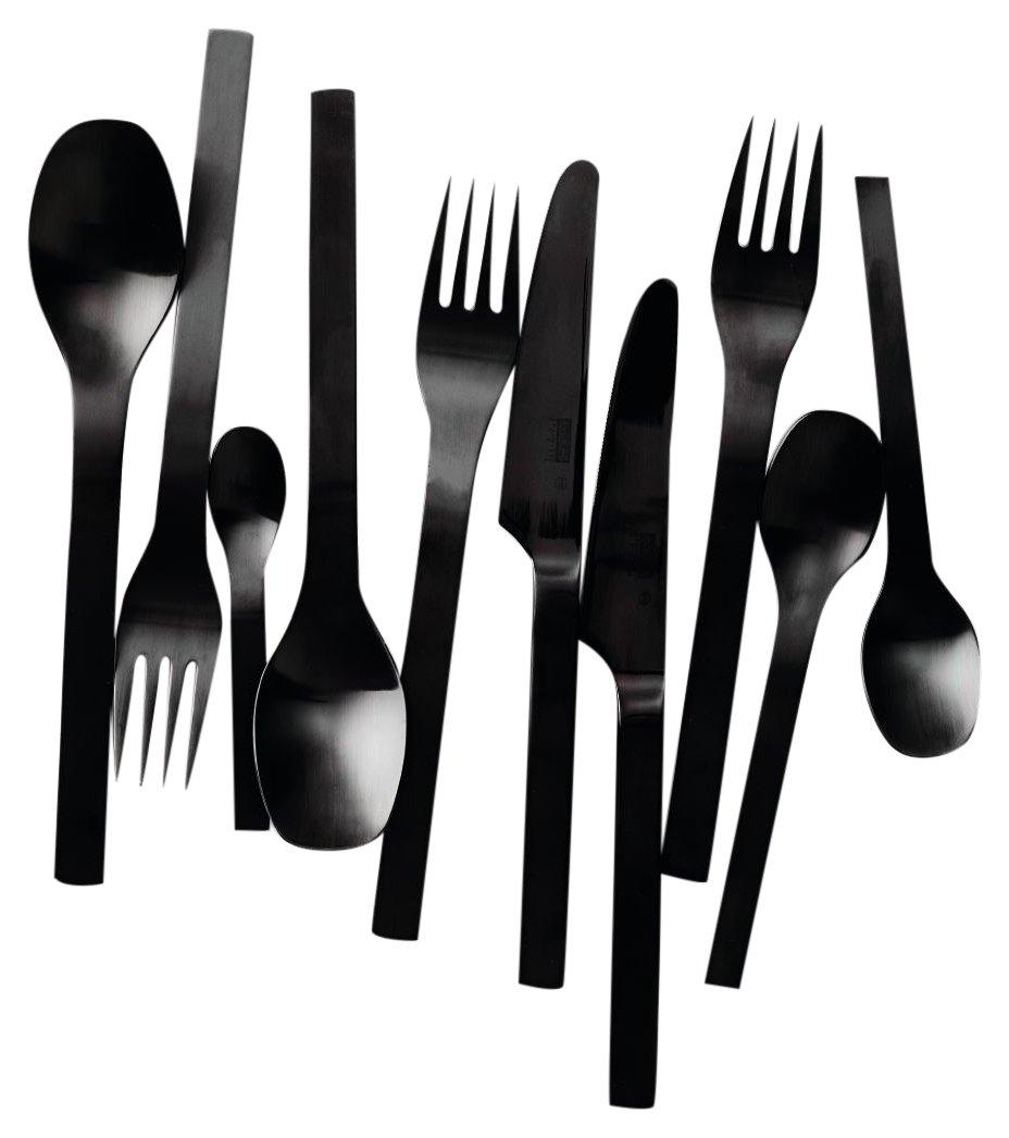 Bodum - K6335-01 - Barcelona - Cubertería - 16 piezas - acero inox - color negro: Amazon.es: Hogar