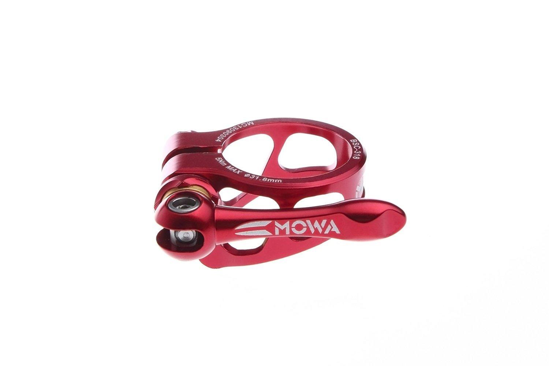 Mowa 7075 Alloy Road MTB Mountain Bike Seatpost Clamp 31.8mm 34.9mm Red
