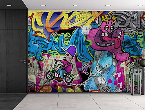 wall26 - Colorful Graffiti - Large Wall Mural, Removable ...