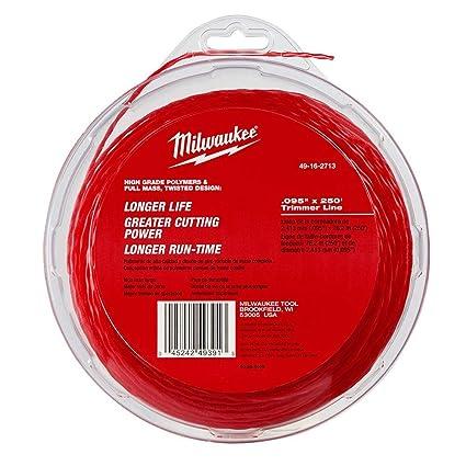 Amazon.com: Milwaukee 0,095 pulgadas x 250 pies Línea para ...
