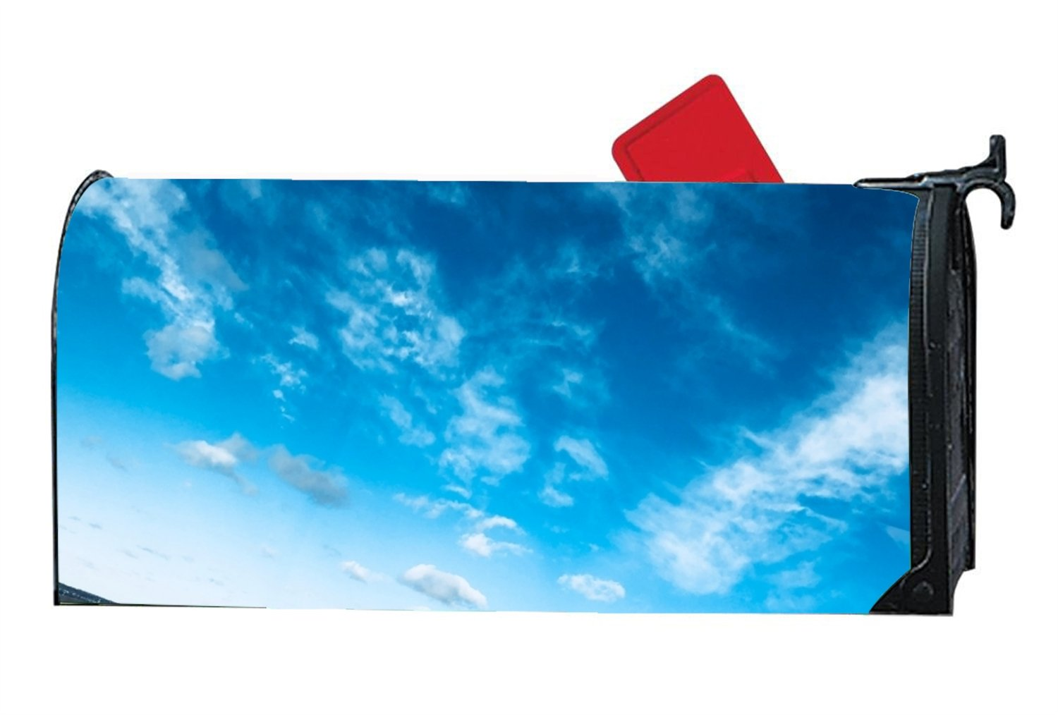 Mailbox Cover - Decorative Magnetic Mailbox Air Atmosphere Blue Design,Surrounds all 6.5'''' x 19'''' standard or traditional size mailboxes