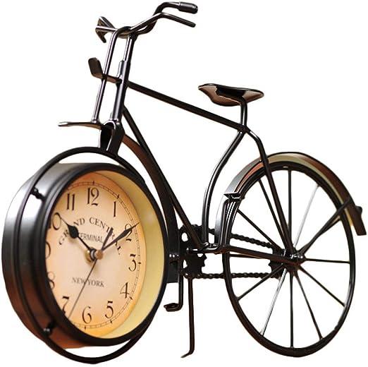 Hierro Relojes de Arte Forma de Bicicleta Reloj de Escritorio ...
