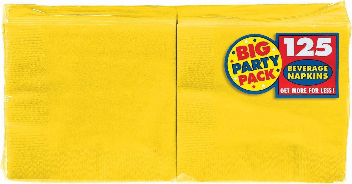 Amscan Tableware Big Party Pack Beverage Napkins, 125 Ct. | 6.5