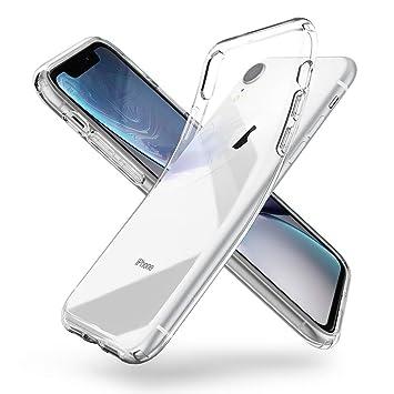 【Spigen】 スマホケース iPhone XR ケース 6.1インチ 対応 TPU 傷防止 レンズ保護 超薄型 超軽量 Qi充電 ワイヤレス充電 クリア リキッド・クリスタル 064CS24866 (クリスタル ・クリア)