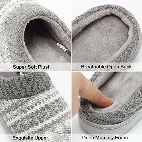 Cior Fantiny Womens Memory Foam House Slippers Sweater Knit