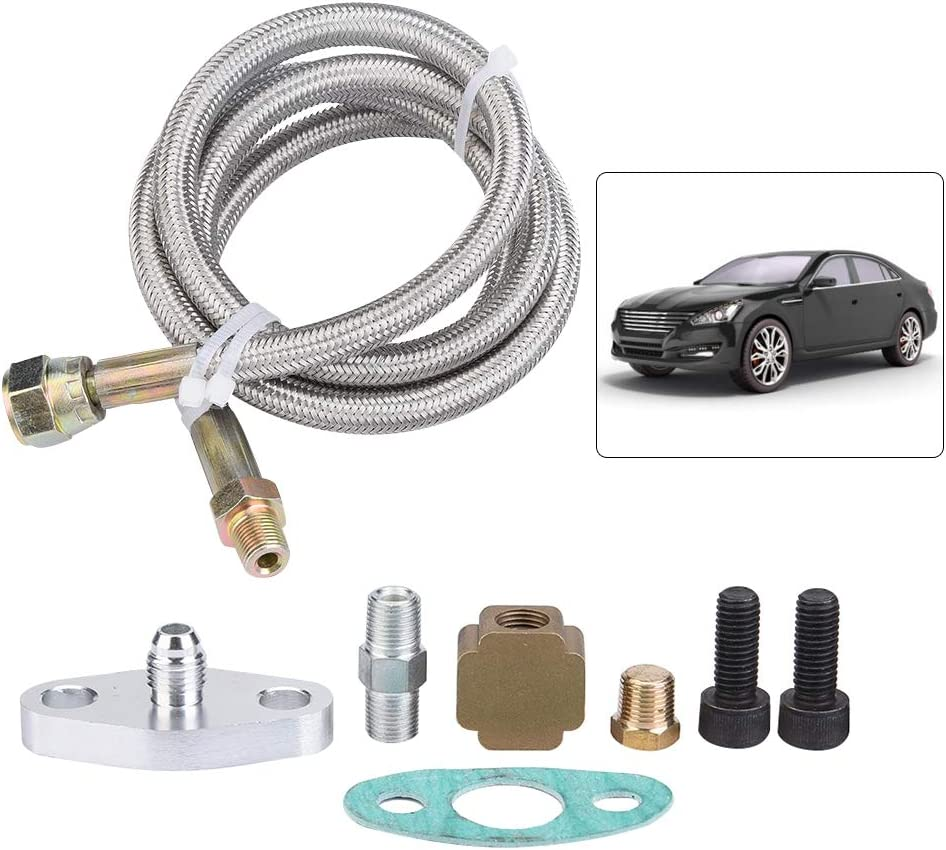 36inch Turbo Oil Return Drain Line Kit Supply Complete Kit for T3 T4 T3// T4 Turbo Oil Line Kits