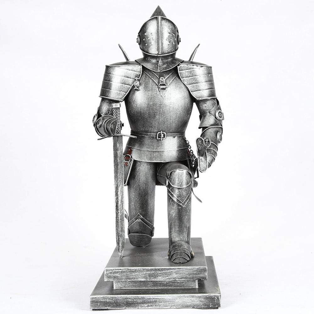 QMZZN Esculturas Escultura De Decoración del Hogar Escultura De Resina Hierro Retro Soldado Romano Caballeros Medievales Decoración para El Hogar Regalos para Niños