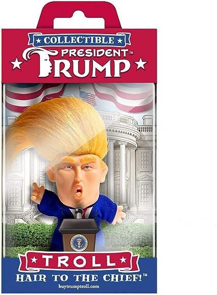 3pc President Donald Trump Novelty Fun Pack Crawling Baby Splat Ball Troll Doll