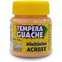 Tinta Guache, Acrilex 020150538, Amarelo Pele, 15 ml, Pacote de 12
