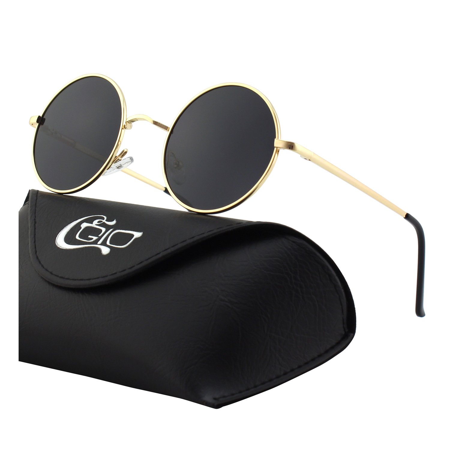 a86d6a94ef3 CGID E01 Retro Vintage Style Lennon Inspired Round Metal Circle Polarized  Sunglasses for Women and Men