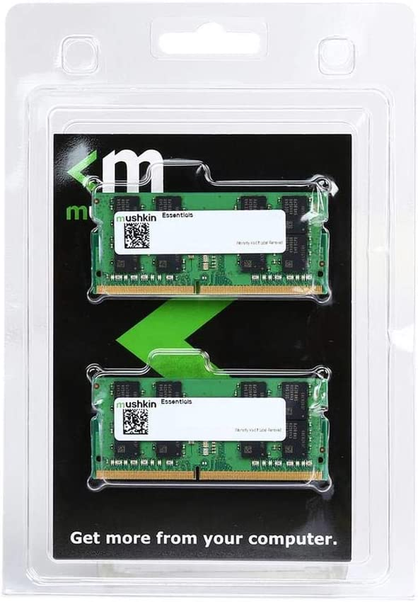 Mushkin Essentials – DDR4 Laptop DRAM – 32GB (2x16GB) SODIMM Memory Kit – 3200MHz (PC4-25600) CL-22 – 260-pin 1.2V Notebook RAM – Dual-Channel – Low-Voltage – (MES4S320NF16GX2)