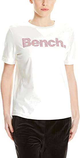 TALLA S. Bench Core Logo T-Shirt August Camiseta para Mujer