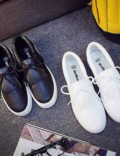 Cn37 5 Cerrada 7 Semicuero Blanco Exterior Uk4 Gyht Mujer Plataforma Comfort us8 Cn40 5 White Eu37 Black Zapatos Zq 5 Eu39 Uk6 Punta Mocasines Casual Negro 5 us6 5 De ACqwa