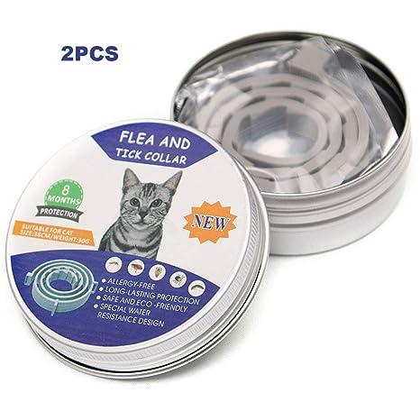 UTOPIAY Collar Antipulgas Y De Garrapatas para Gatos ...