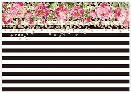 Amazon.com: Allenjoy fondo de rayas blancas y negras para ...