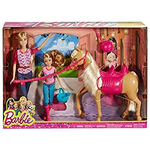 61BfaLfxf6L. SS300  - Barbie Pinktastic Sisters Riding Lessons