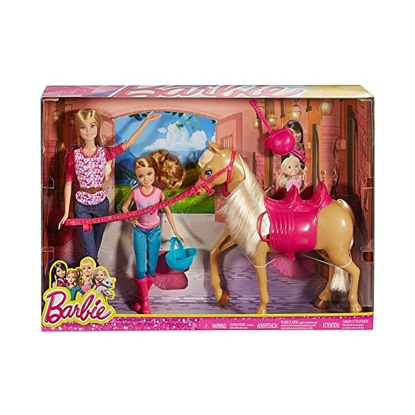 61BfaLfxf6L. SS600  - Barbie Pinktastic Sisters Riding Lessons