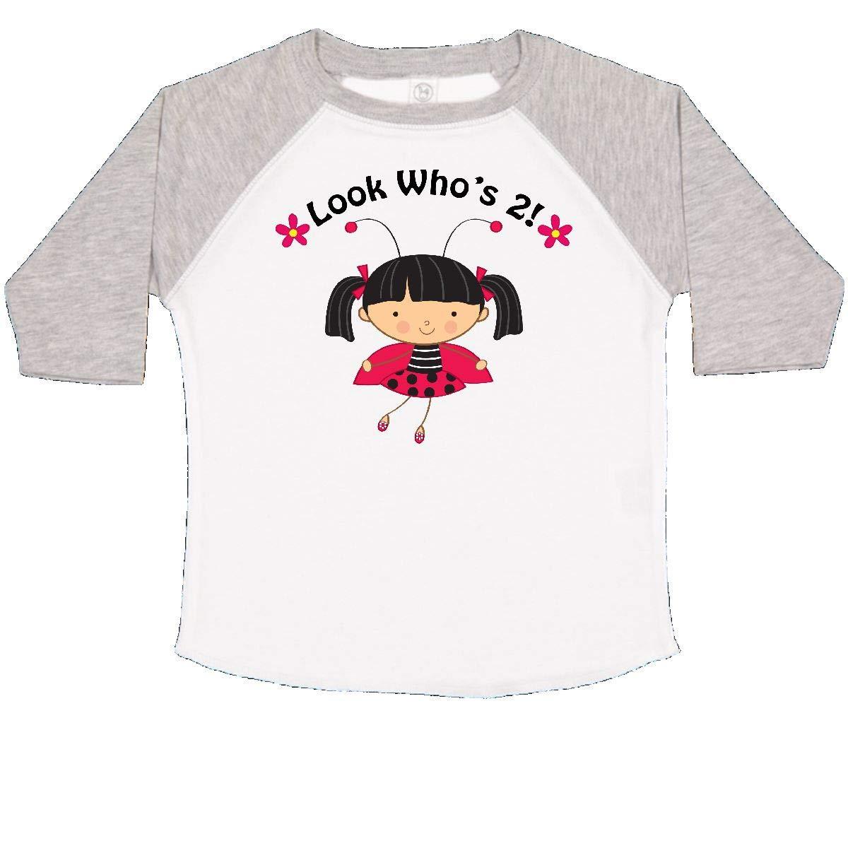 inktastic 2nd Birthday with Ladybug 2 Year Old Girl Toddler T-Shirt