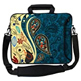 Designer Sleeves Paisley Fashion Executive Case for 15-Inch Laptop, Blue (15ES-PF)
