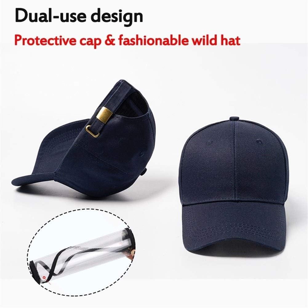 Máscara protectora Seguridad del polvo anti cubierta extraíble sombrero con la máscara de la máscara anti combustión saliva a prueba de viento cubierta que aisla la saliva de la cara llena la protecci
