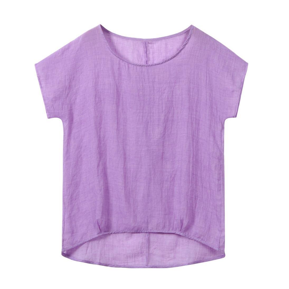 Luckycat Damen Oversize T-Shirt Retro Vintage Baumwolle Oberteile Bluse Locker Sommer Top Kurzarm Casual Shirt Groß e Grö ß e LUCKYCAT Damen T-shirt Nr.043