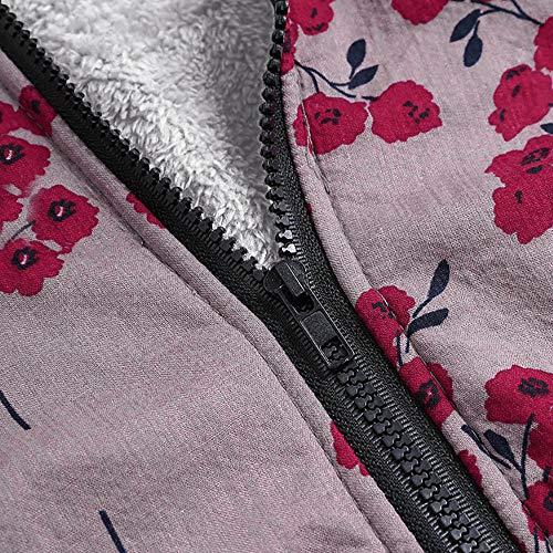 Floral Chaqueta Mujer Caliente Tallas Suéter Capucha Multi8 De Sudadera Con Impresión Grandes Outwear Jersey Bolsillos Invierno Abrigo Cardigan Logobeing xAEqwvtHv