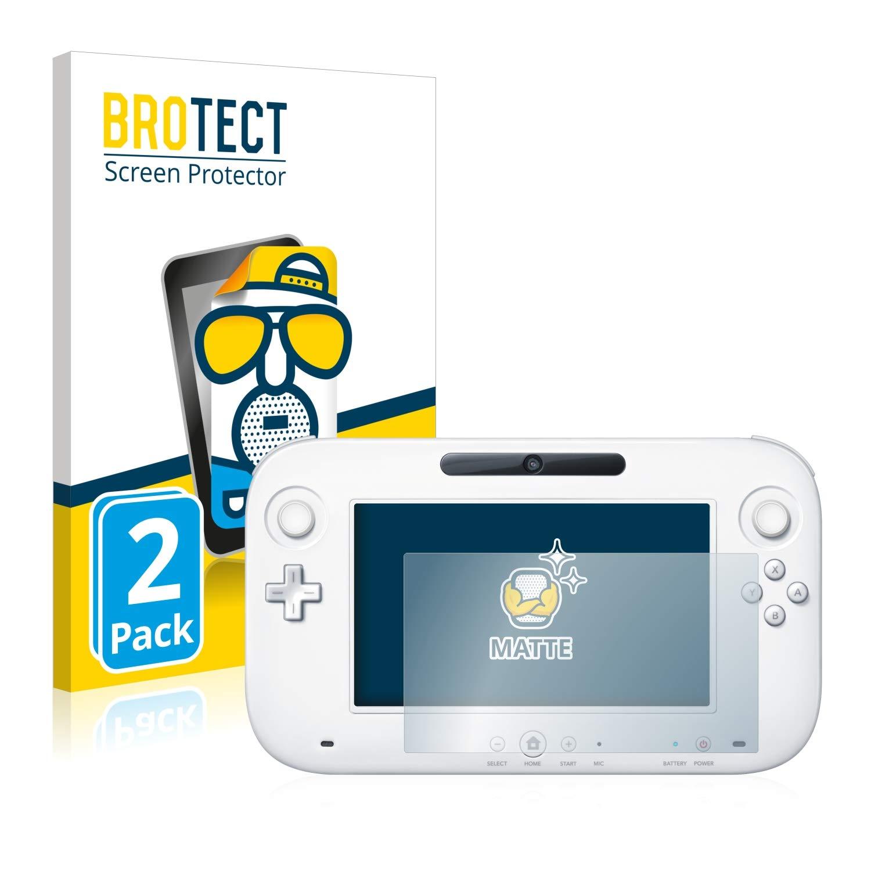 BROTECT Protector Pantalla Mate Compatible con Nintendo Wii U Gamepad (Controller) (2 Unidades) - Anti-Reflejos