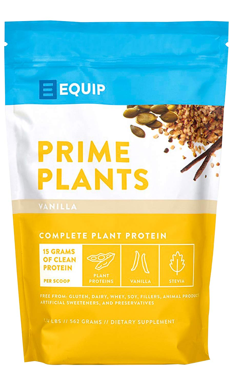 Vegan Vanilla Plant Protein Powder: Ideal Garden Pea Protein for Women or Men. Best as Low Carb Plant Based Protein Powders Shake Mix w Hemp, Sacha Inchi, Pumpkin. Clean Vegetarian Nutrition, No Soy by Equip