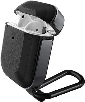 X-Doria Defense Trek, Apple AirPods 1 & 2 Case, Estuche Protector de Aluminio y policarbonato para Apple AirPods 1 y 2, (Negro): Amazon.es: Electrónica
