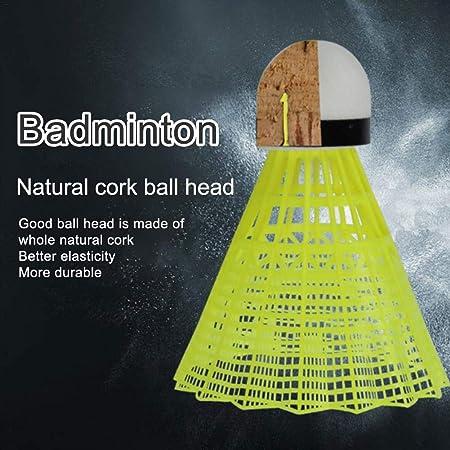 elastisch Badminton-Einzelspiel-R/ückprall-/Übungsschwung Automatisches Sparring-Badminton-Set Selbststudium-R/ückprall-Kraftbasis-/Übungsset SOWLFE Badminton-Trainer tragbar