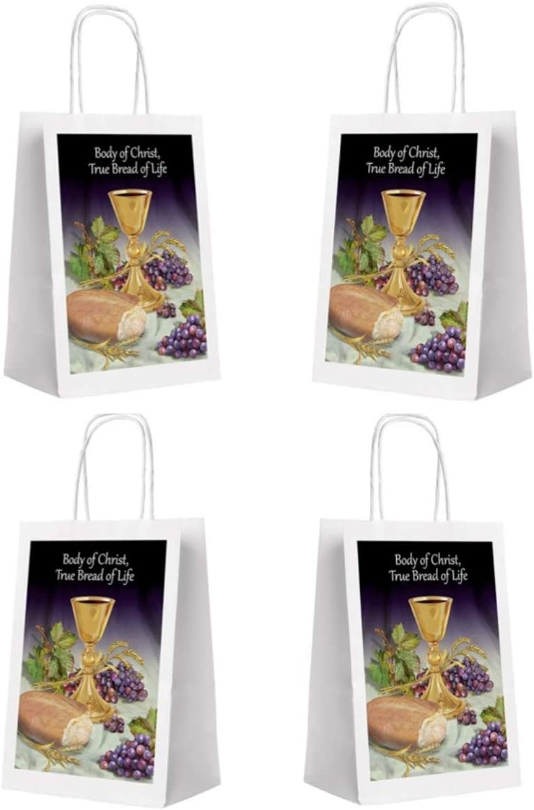 Body of Christ First Communion Gift Bags, 9 Inch, Pack of 4