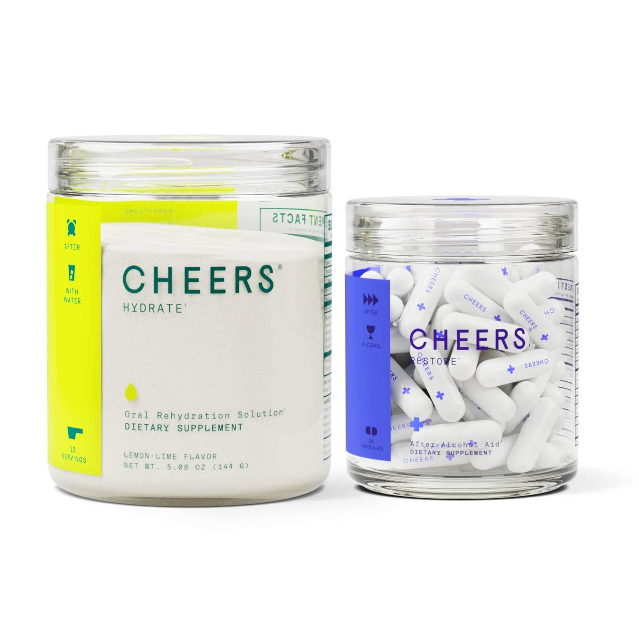 After Alcohol Aid & ORS Combo | for Fast Alcohol Detox & Rehydration Recovery After Drinking Alcohol. Replenish with Our Electrolyte Formula by Cheers (Image #1)
