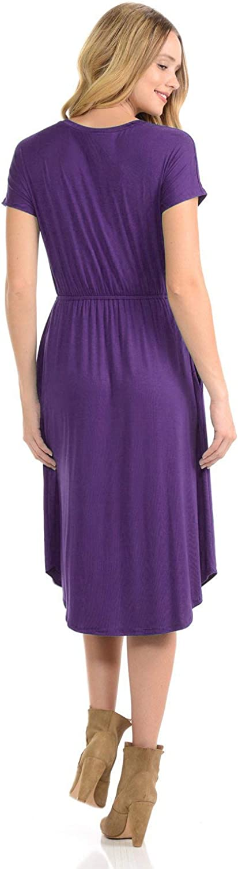 CzzzyL Womens Short Sleeve Maternity Nursing Dress for Breastfeeding