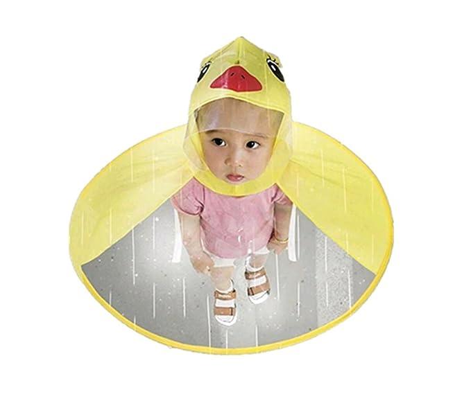 STRIR Impermeable para Niños Capa de Lluvia para Niños para Niñas Paraguas Hat Impermeable al Aire
