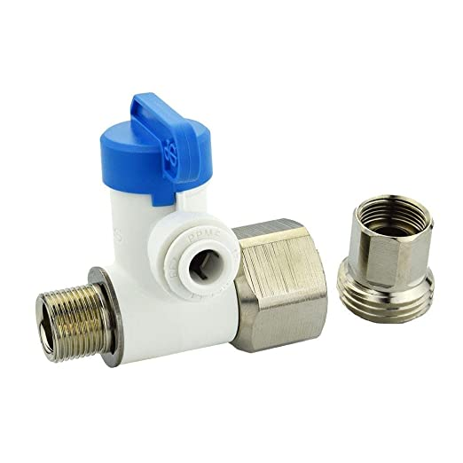 """Twistloc Angle Supply Stop Feed Water Adapter Ball valve 1//2/"""" threaded 1//4/"""" QC"""