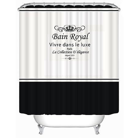 Maplehome Custom Bain Royal Waterproof Shower Curtain 180 X 180cm Paris Digital Fabric Polyester