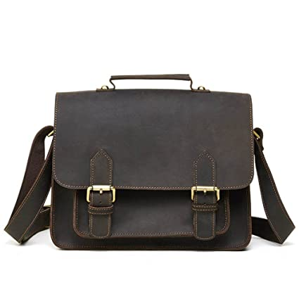 5b17ac3ac475 Amazon.com: Amyannie Laptop Messenger Bag Mens Retro Leather ...