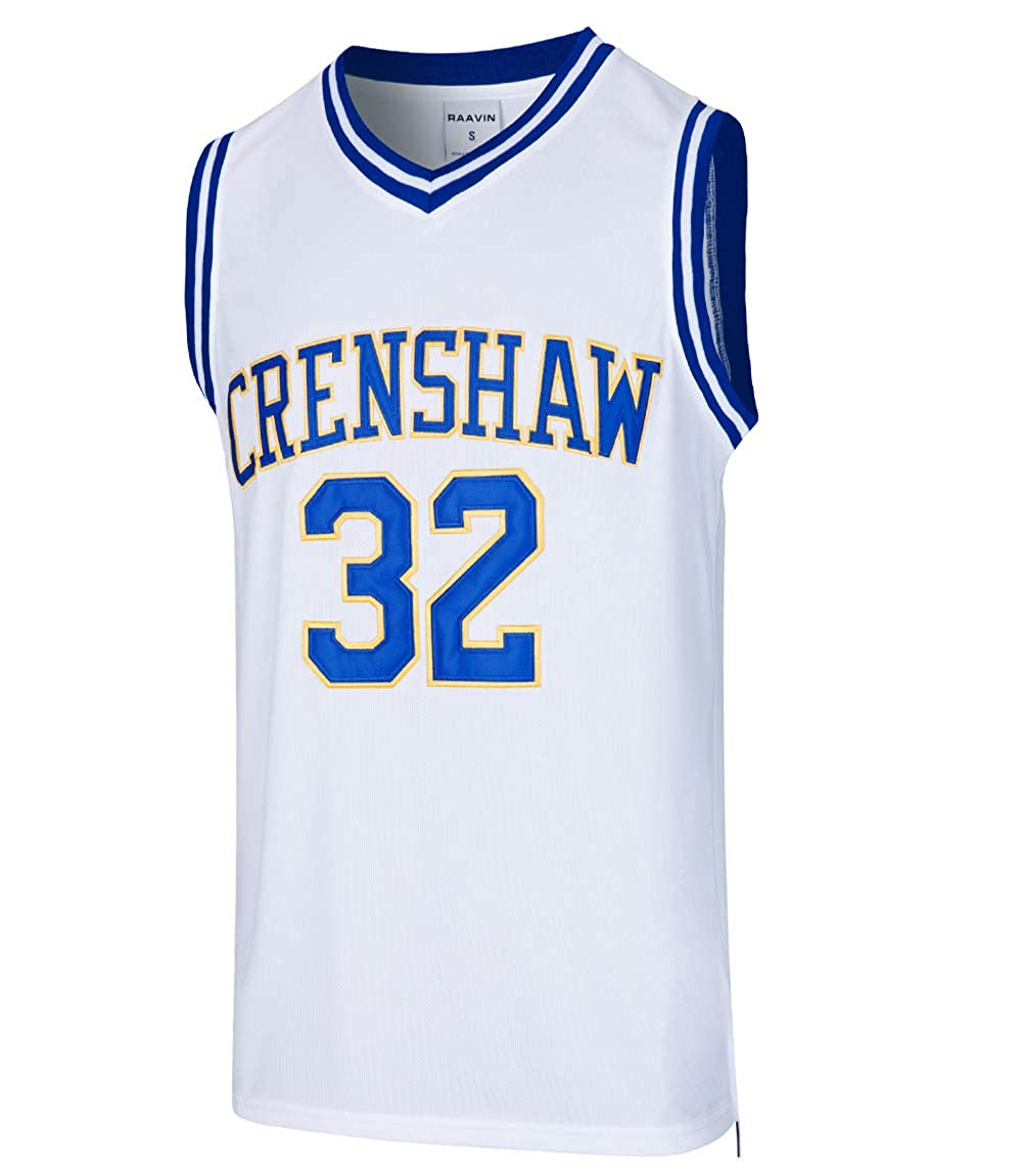 90S Hip Hop Clothing for Party 2-Layer Stitched Letters and Numbers MOLPE McCall 22 Crenshaw Basketball Jersey S-XXXL White
