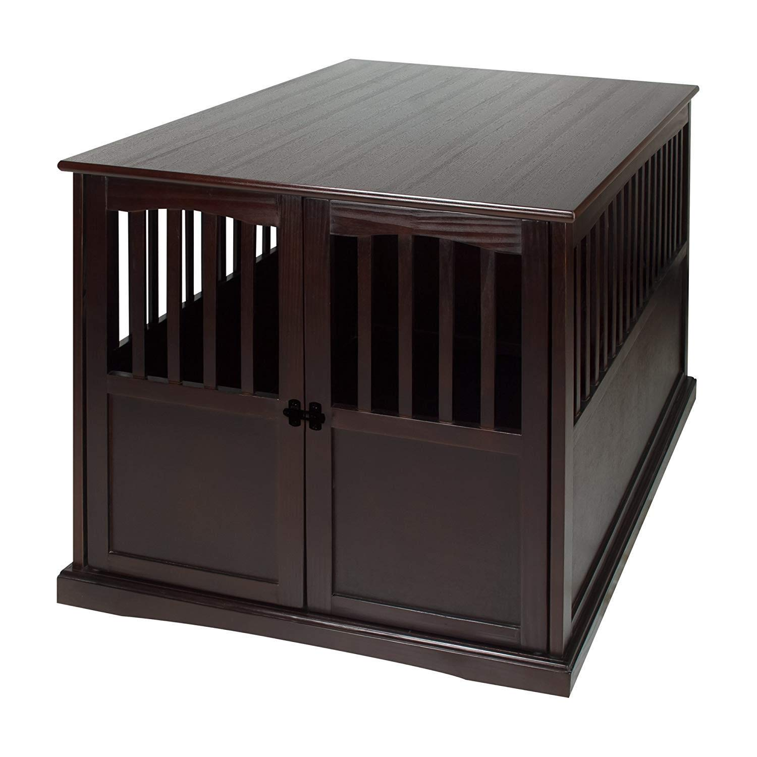 Casual Home 600-84 Wooden Extra Large Pet Crate, End Table, 31.5''W x 44.5''D x 30''H, Espresso