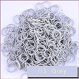 Kirinstores (TM) 6000 PCS 240 Clips Bands Refills for Loom Rainbow Bracelet Dress Making - Grey