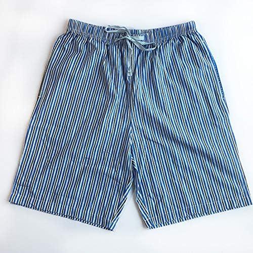 パジャマ CHJMJP ホームショーツ男性スリープボトムス夏の薄い緩いカジュアル男性パジャマアローパンツショートスリープパンツ (Color : NDK 5, Size : L 75 85kg)